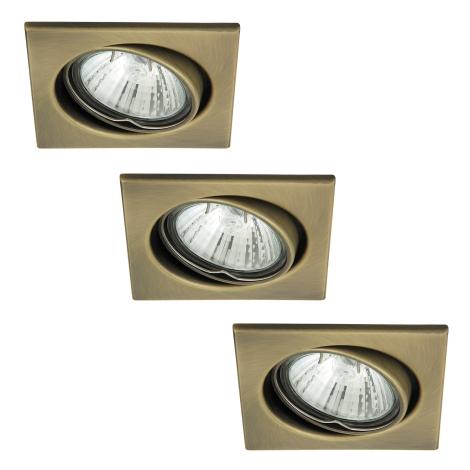 Rabalux 1135 - SADA 3x Beépíthető lámpa SPOT LIGHT 3xGU10/50W/230V