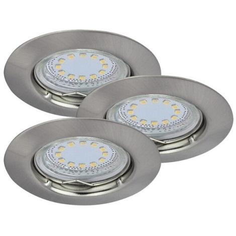 Rabalux 1163 - Készlet 3x LED beépíthető lámpa LITE 3xGU10-LED/3W/230V