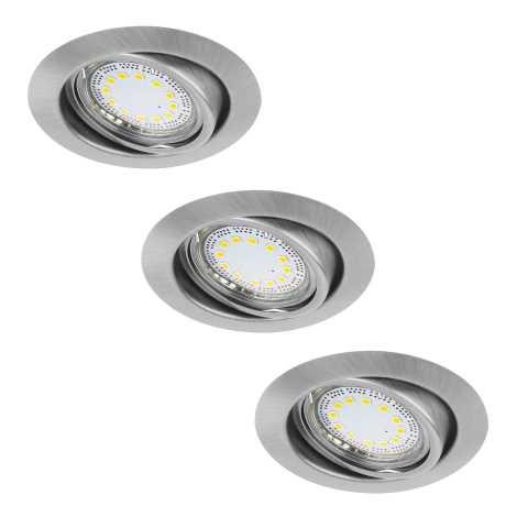 Rabalux 1166 - Készlet 3x LED beépíthető lámpa LITE 3xGU10-LED/3W/230V