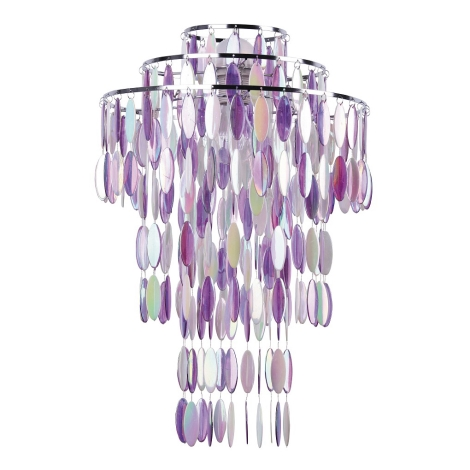 Rabalux 4578 - Lámpaernyő SERAFINA 1xE27 lila