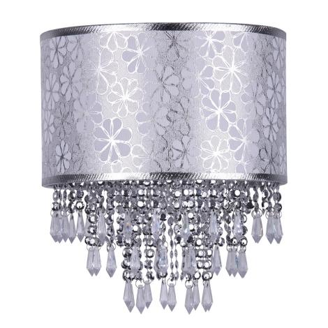 Rabalux 4583 - Lámpaernyő HERMINA 1xE27 ezüst