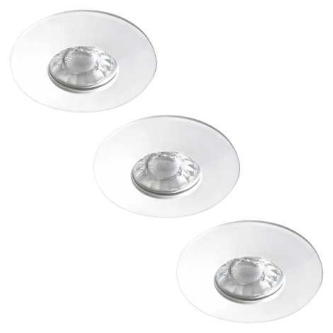 Rabalux - KÉSZLET 3xLED Fürdőszobai beépíthető lámpa 3xLED/4W/230V