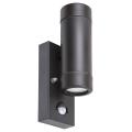 Rabalux - Kültéri fali lámpa érzékelős 2xGU10/10W/230V IP44 fekete