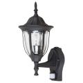Rabalux - Kültéri fali lámpa érzékelővel 1xE27/60W/230V IP43 fekete