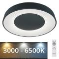 Rabalux - LED Dimmelhető mennyezeti lámpa LED/38W/230V fekete + távirányító 3000-6500K