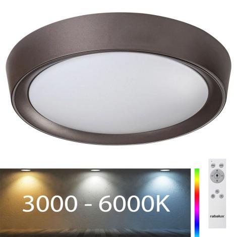 Rabalux - LED RGB Dimmelhető mennyezeti lámpa LED/24W/230V + távirányító 3000-6000K