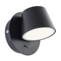 Redo 01-1739 - LED Fali lámpa SHAKER LED/6W/230V fekete