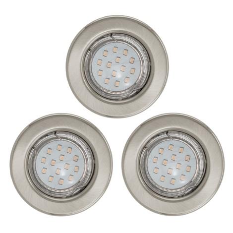 SADA 3x LED mennyezeti lámpa IGOA 1xGU10/3W/230V matt króm