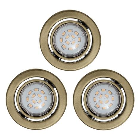 SADA 3x LED mennyezeti lámpa IGOA 1xGU10/5W/230V bronz
