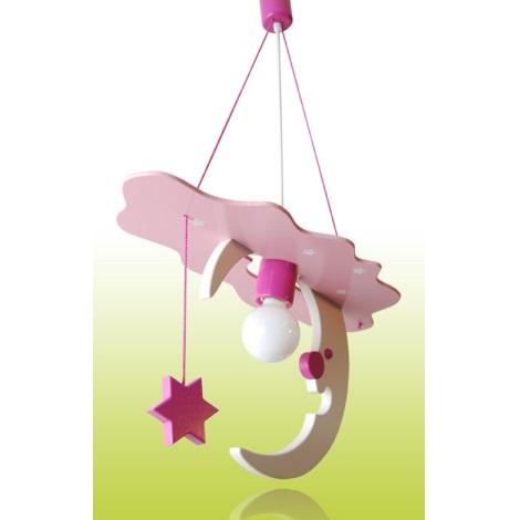 SKY gyerek függeszték 1xE27/60W rózsaszín/fehér