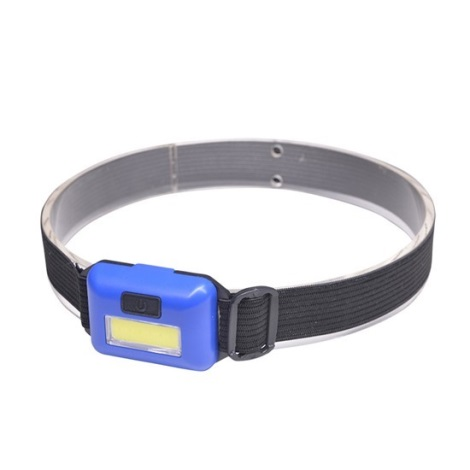 Solight WH26 − LED Fejlámpa LED/3W/3xAAA, kék