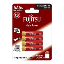 Soligth FU-LR03HP-4B - 4 db alkáli elem High Power AAA 1,5V