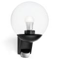 STEINEL 005535-Kültéri fali lámpa érzékelővel L585S 1xE27/60W fekete IP44