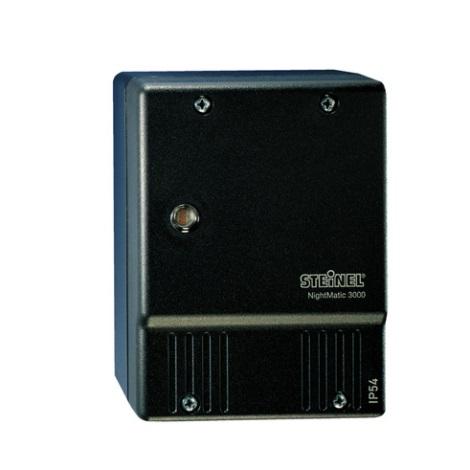 STEINEL 550516 - Alkonykapcsoló NightMatic 3000 Vario fekete IP54