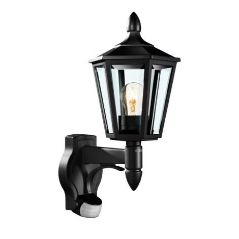 STEINEL 617813 -Érzékelő fali lámpa L 15 1xE27/60W fekete