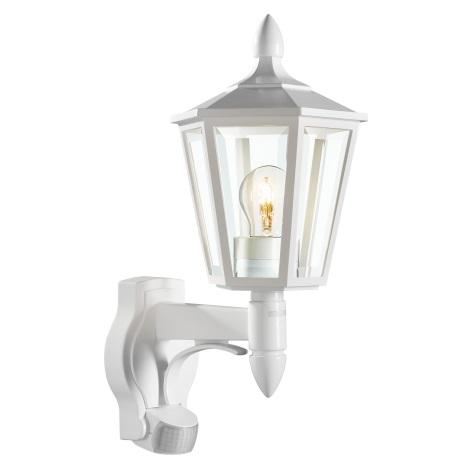 STEINEL 617912 - L 15 szenzoros fali lámpa 1xE27/60W fehér