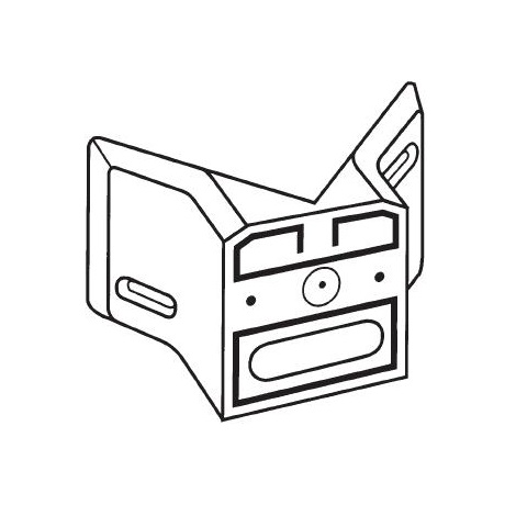 STEINEL 630119 - Sarok fali tartó külső sarokra, fekete