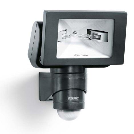 STEINEL 633011 - HS 150 DUO fekete érzékelős lámpa kültérbe