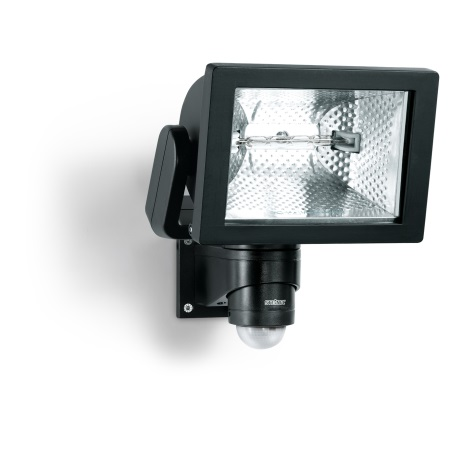 STEINEL 633417 - Halogén reflektor érzékelővel  HS 500 S DUO fekete
