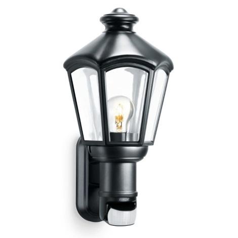 STEINEL 634612 - Fali lámpa érzékelővel fekete L 562 S