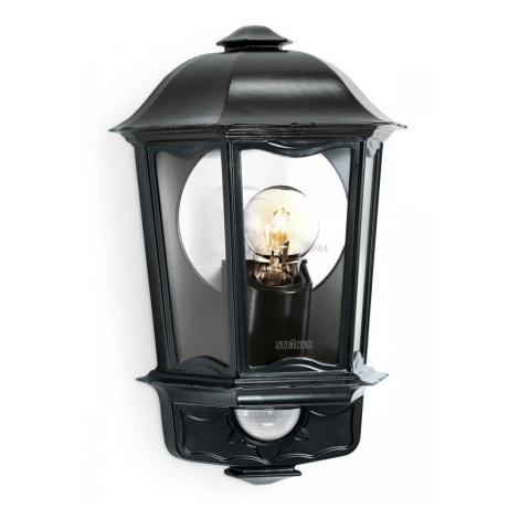 STEINEL 644413 - Fali lámpa érzékelővel   L 190 S fekete