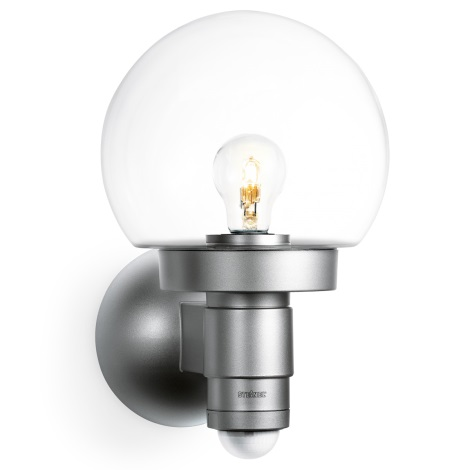 STEINEL 657512 - Fali lámpa érzékelővel  L 115 S Silver