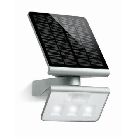 STEINEL 671013 - XSolar L-S szenzoros szolár LED-es reflektor 0,5W/LED ezüst