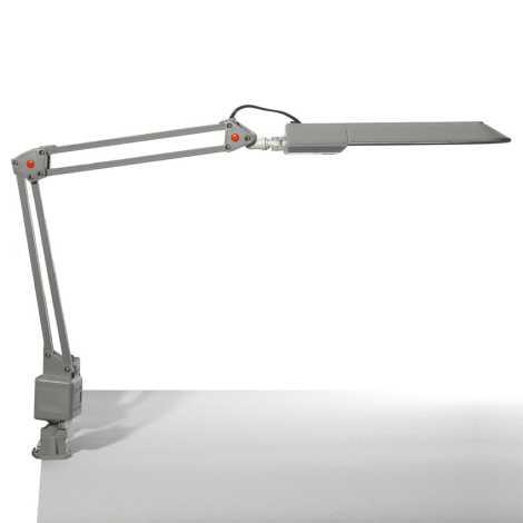 Top Light - Asztali lámpa OFFICE 1xG23/11W/230V ezüst