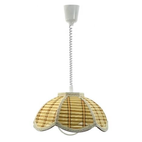 TOP LIGHT - RUSTIK/K/B csillár E27/60W bambusz, textil, műanyag