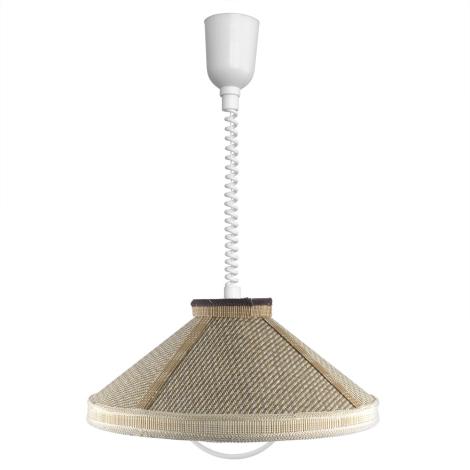TOP LIGHT - RUSTIK/K/T csillár E27/60W bambusz, textil, műanyag