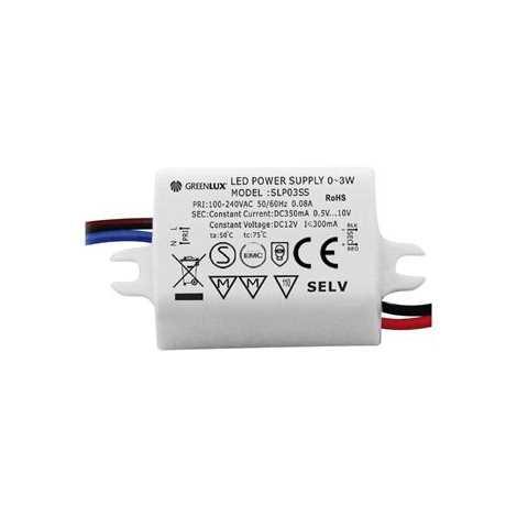 Transzformátor LED szalaghoz LED 1x3W - GXLD001