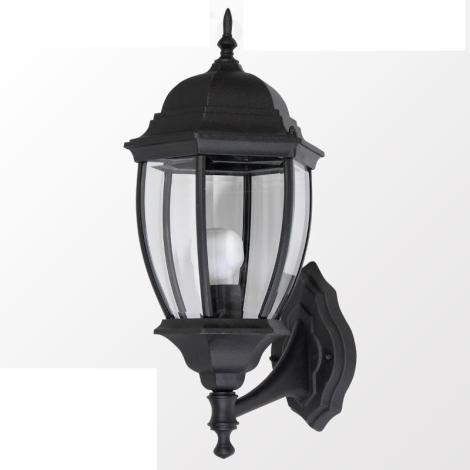 TRENTO N kültéri fali lámpa, fekete 1xE27/100W
