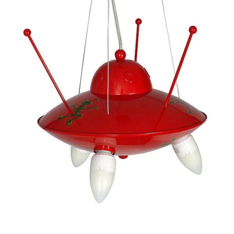Ufo gyermek csillár 3xE14/60W piros