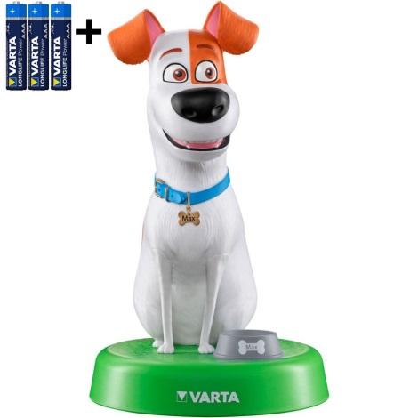 Varta 15641 - LED Gyermeklámpa THE SECRET LIFE OF PETS LED/3xAAA
