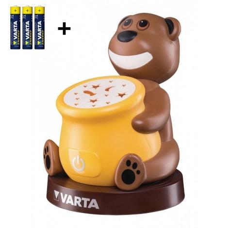 Varta 17501 - LED Gyerek projektoros lámpa PAUL 2xLED/3xAA