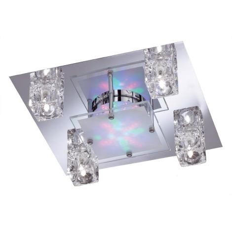 WOFI 9599.04.01.0000 - LAZIO spotlámpa 4xG4 RGB LED/20W